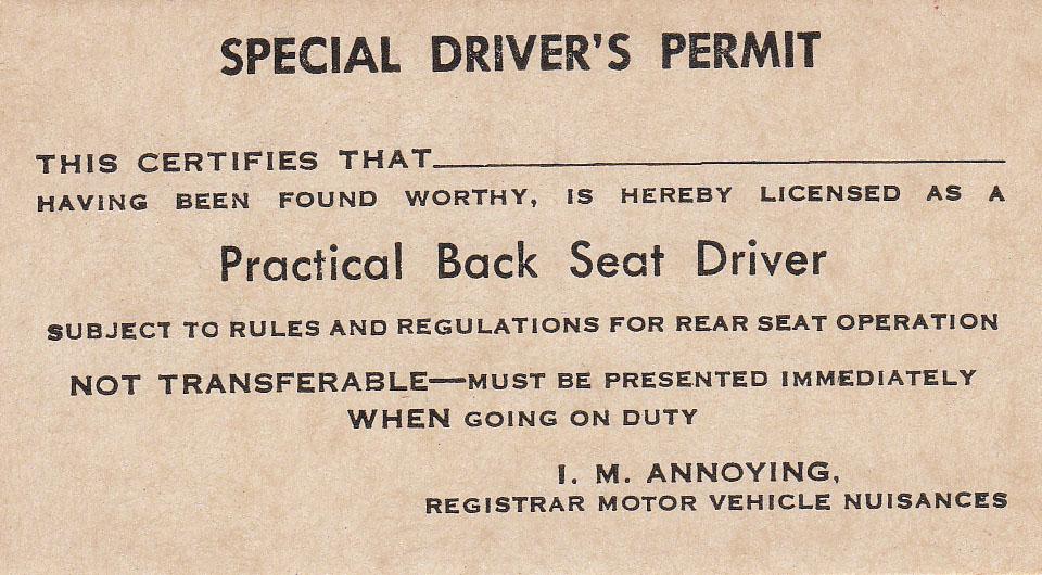 Special Driver's Permit
