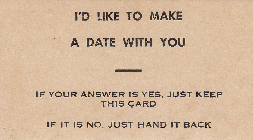 I'd Like to Make a Date with You
